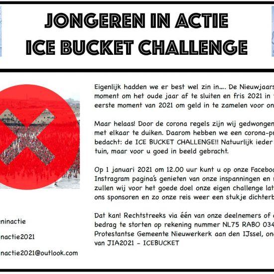 Jongeren in actie 2021 organiseren icebucketchallenge