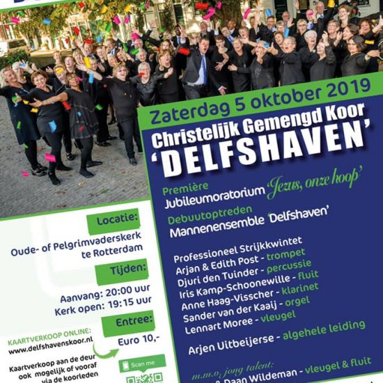 Jubileumconcert Christelijk Gemengd Koor (CGK) Delfshaven