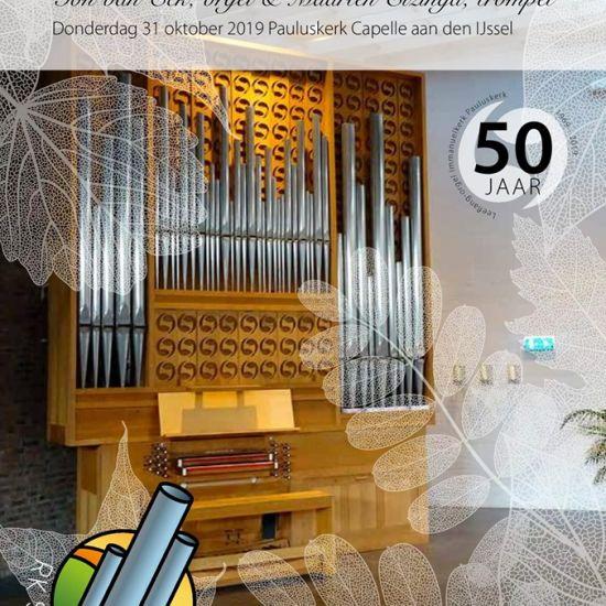 Herfstlunch en jubileumconcert Ton van Eck, orgel & Maarten Elzinga, trompet
