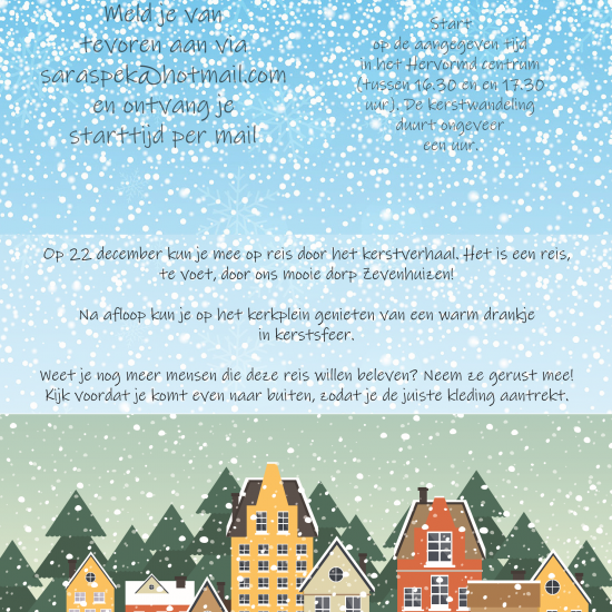 Kerstwandeling in Zevenhuizen