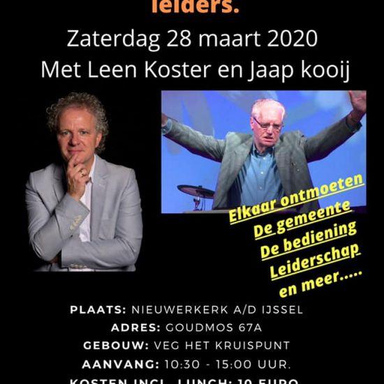 VERPLAATST Ontmoetingsdag voor voorgangers, oudsten en leiders in Nieuwerkerk ad IJssel
