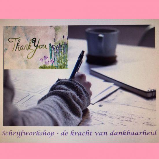 Schrijfworkshop 'De kracht van dankbaarheid'