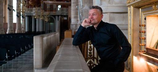 Hayo Boerema op het Marcussen-orgel