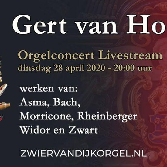 Gert van Hoef verzorgt liveconcert vanuit de Grote Kerk Genemuiden