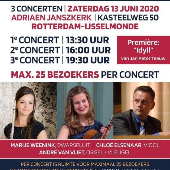 Zaterdag 13 juni 2020 een concert met publiek.