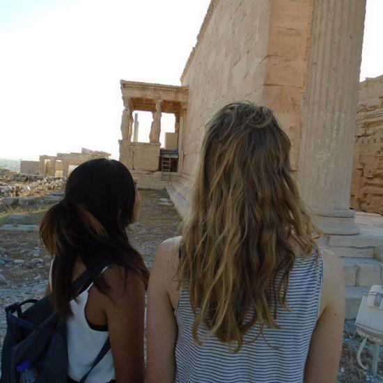 De stad van de Akropolis