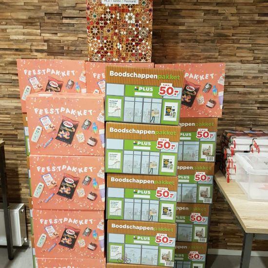 Spaaractie levert 30 boodschappenpakketten op