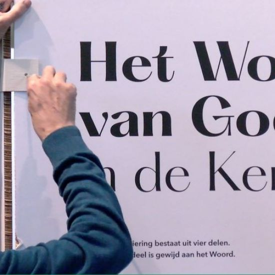 Video pop-up tentoonstelling over het Woord van God